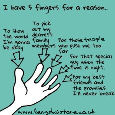 you have five fingers for a reason...