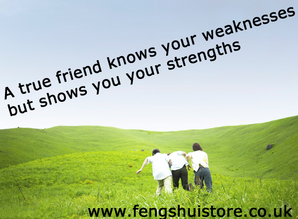 a true friend knows all your weaknesses but shows you your strengths