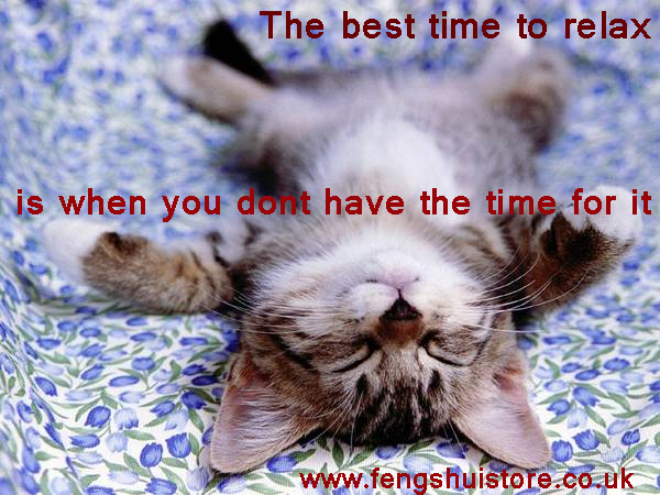 best time to relax is when you dont have the time
