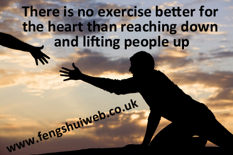 There is no exercise better for the heart than reaching down and lifting people up