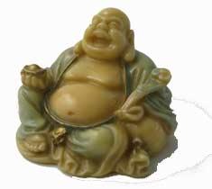 Buddha with wealth ingot and ru yi - (Fo hu shen fu)