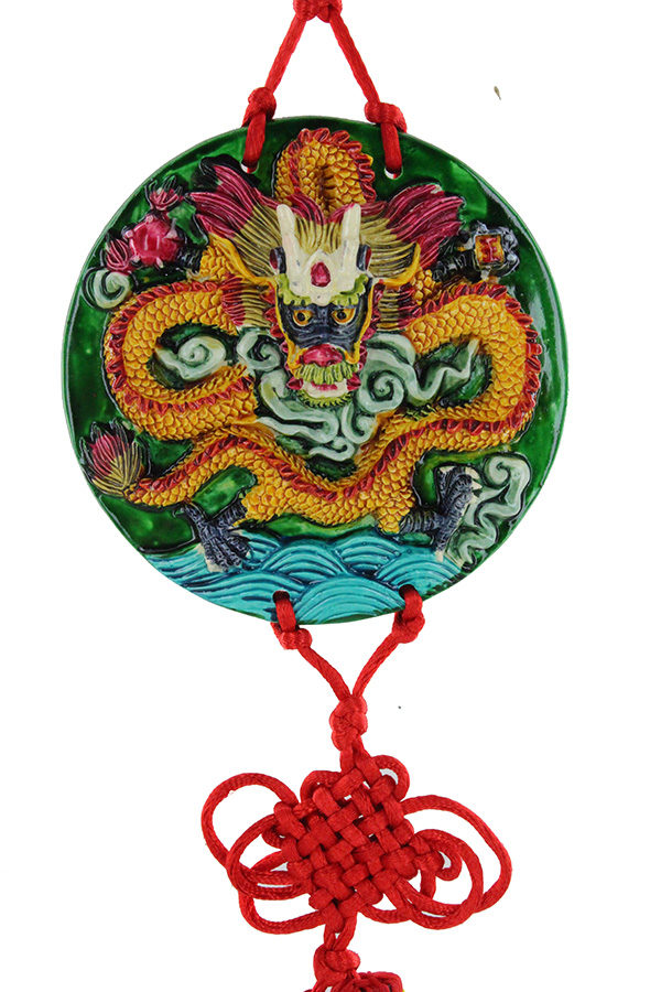 Dragon Chasing Pearl tablet huo long ming zhu (fire dragon with treasures)