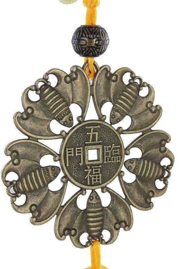 Wu Fu five bats of wealth and success Talisman