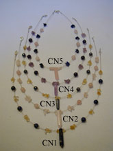 Rose Quartz Crystal necklace - CN2