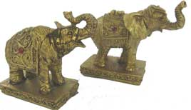 Pair of Jewelled Elephants