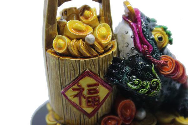 Qian Cai Chan Chu Three-legged Toad and wealth pot