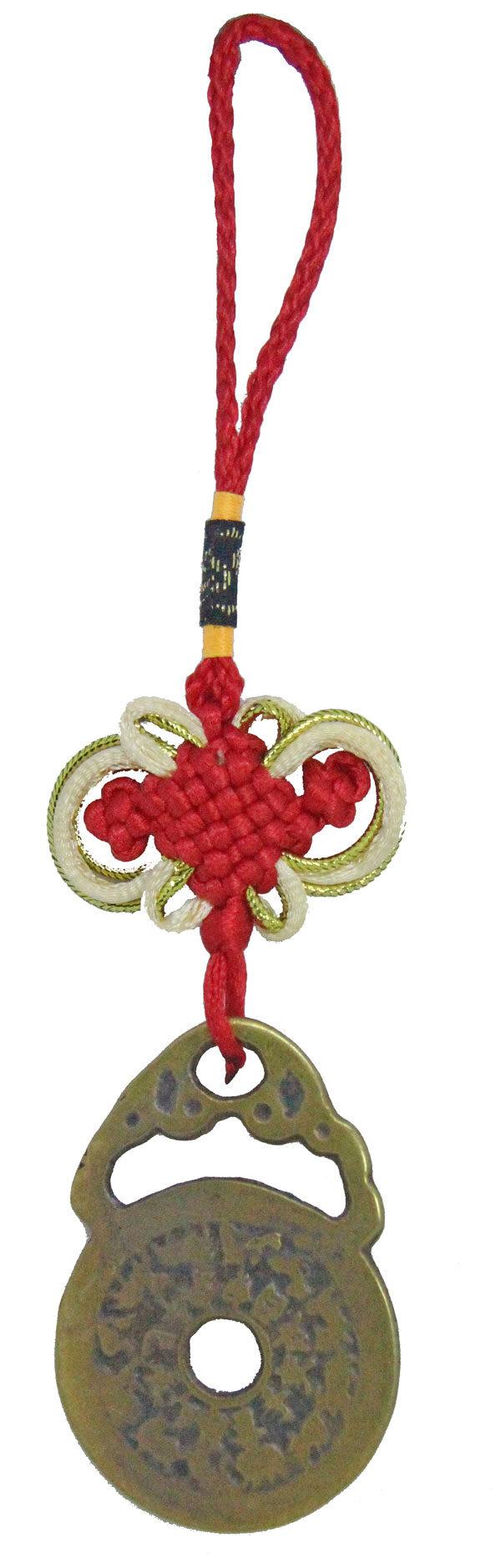Bian fu zhuang suo fu zhou Bat lock amulet 1